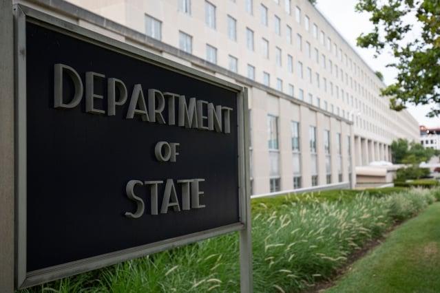 美國國務院週一晚間表示,美國正以「嚴重關切」的態度關注著香港局勢。(ALASTAIR PIKE/AFP/Getty Images)