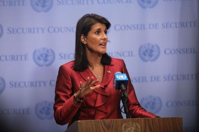 前美國駐聯合國大使海利。資料照。(Getty Images)