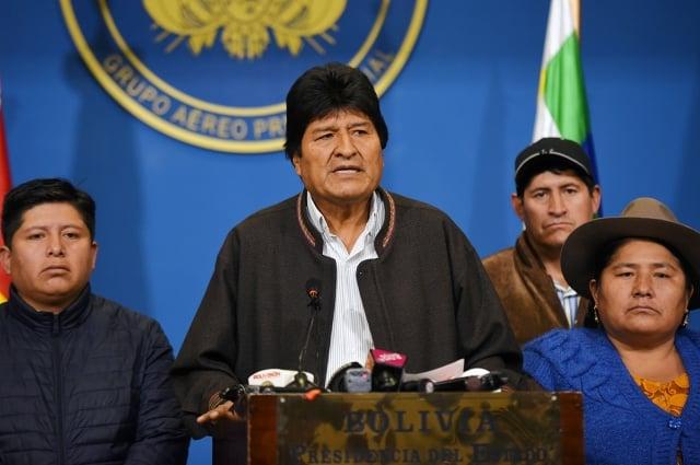 玻利維亞總統莫拉萊斯11月10日下台,次日即獲得墨西哥庇護。資料照。(AFP)