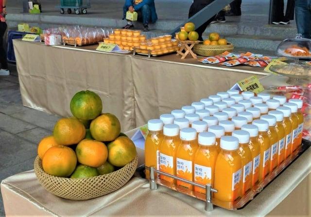 台中生產的各級柑橘,經研發製作成椪柑汁、果乾、軟糖等加工品,目前在超市、大型量販店都可以買到。
