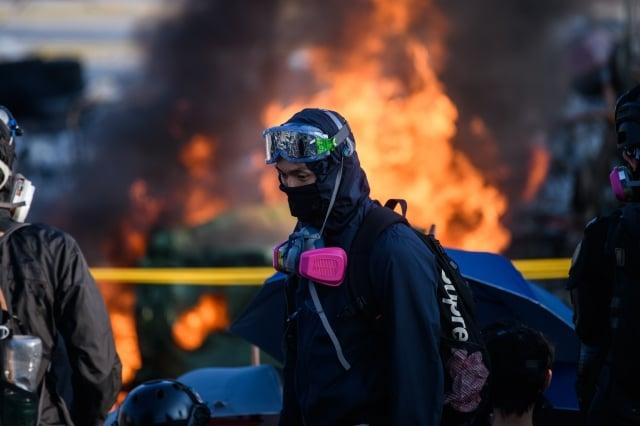 美國華裔中國問題專家章家敦指出,未來香港形勢會越來越糟,內戰氣氛越來越濃。( ANTHONY WALLACE/Getty Images)
