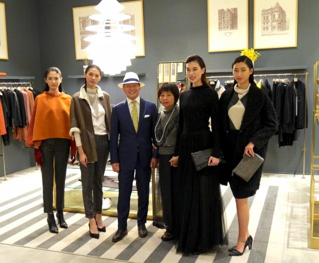 Fabiana Filippi今(14日)在台北文華精品舉辦秋冬新裝發表會。(攝影/記者陳瑩聰)