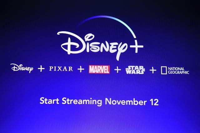 迪士尼公司(Walt Disney)剛在美國、加拿大與荷蘭推出串流影音平台「Disney+」。(Robyn Beck / AFP)