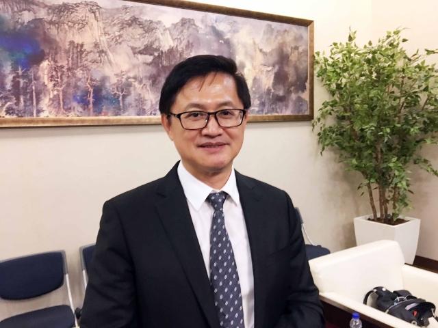 台北市電腦公會理事長童子賢表示,台商回台有真正的投資才是重點,討論資金來源是假議題。(中央社)