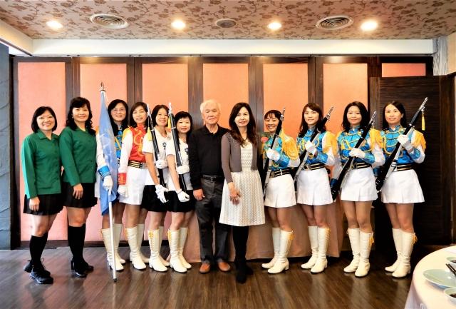台中女中創校100週年,樂儀隊校友回娘家表演。(記者黃玉燕/攝影)