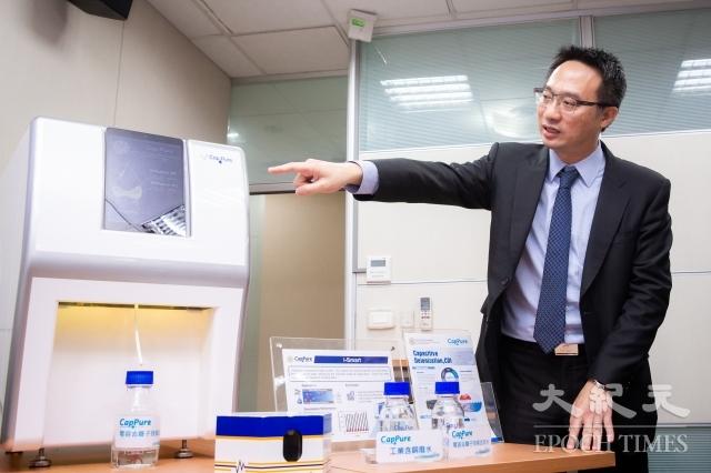 台灣大學環境工程學研究所副教授侯嘉洪25日出席「水科技再升級,台灣技術領先國際」研究成果發表記者會。(記者陳柏州/攝影)