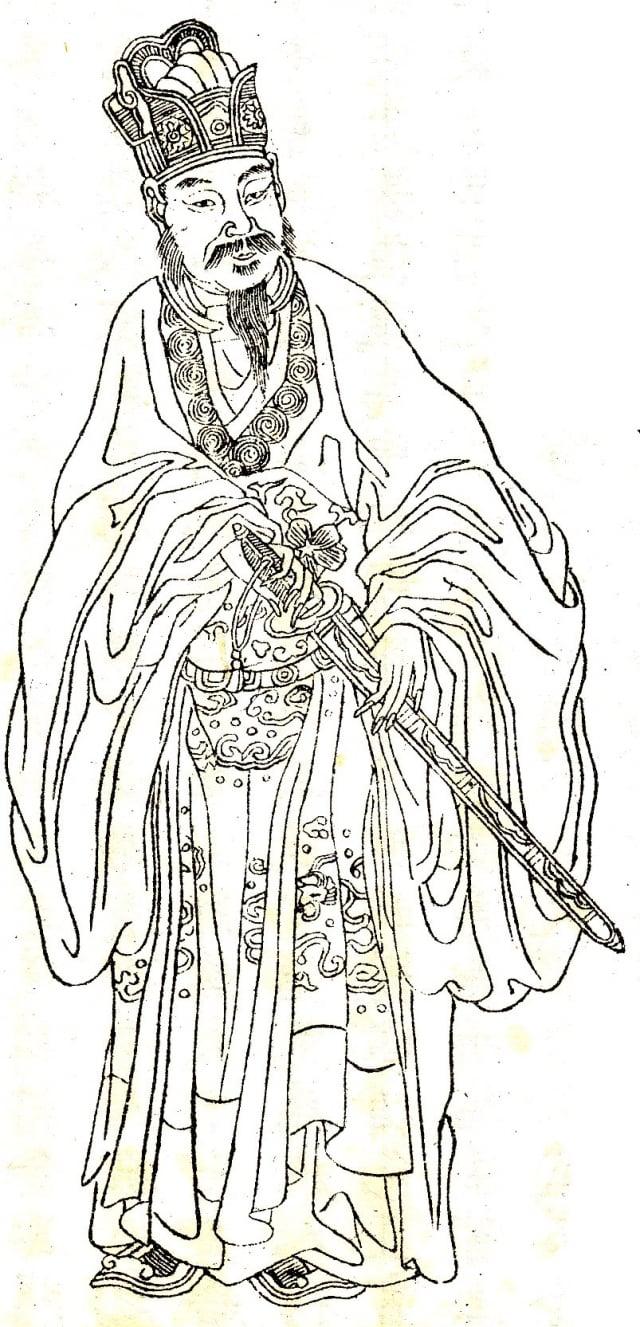 據記載,東方朔兩百歲時,容顏仍像個童子,在世時,可以隨意到任何地方。(公有領域)