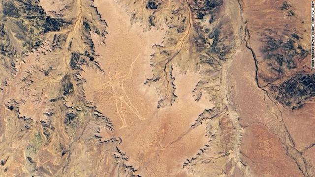 NASA於2019年6月分拍攝到的馬里人形地畫。(NASA)
