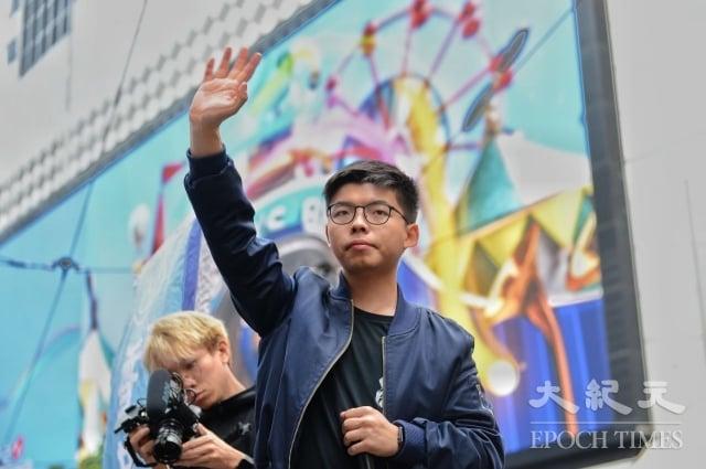 香港眾志祕書長黃之鋒認為,總統蔡英文勝選意義重大。(記者宋碧龍/攝影)