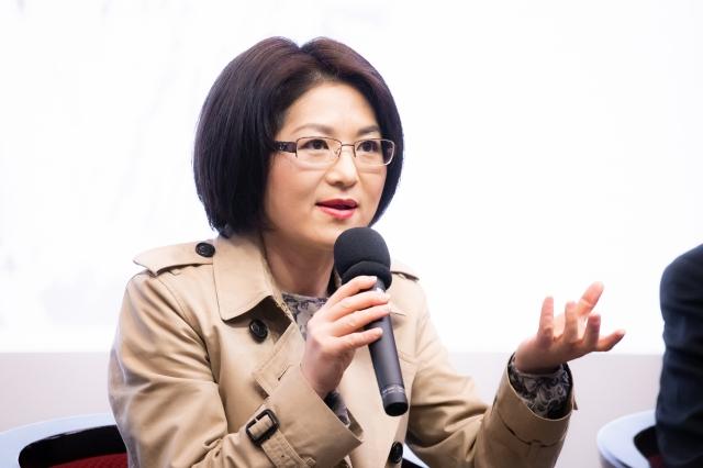 揭露中共孔子學院內幕的紀錄片《假孔子之名》日前在台灣大學放映,導演秋旻出席映後座談。(記者陳柏州/攝影)