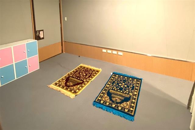 北觀處四處遊客中心均提供舒適「祈禱空間」。(北觀處提供)
