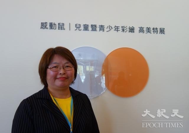 甲仙國小校長陳姚如表示,榮幸獲選為「感動鼠」彩繪活動課程示範學校。(記者劉亦悅/攝影)