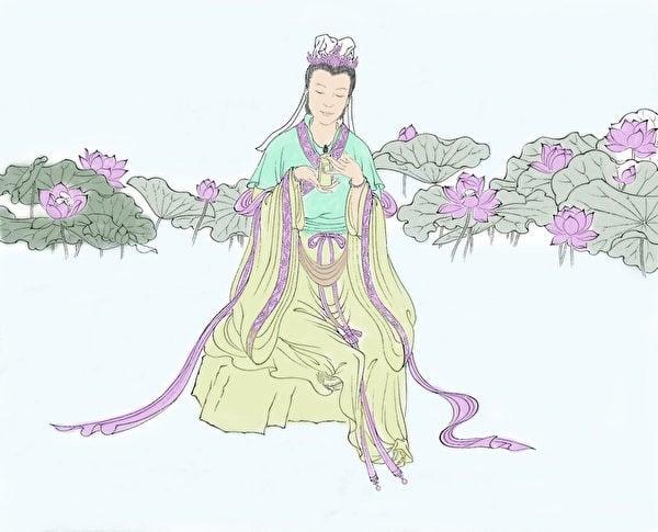 中國有女媧使用泥土來造人的傳說。(繪/李天明)