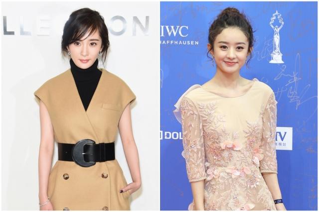 中國女星楊冪(左,Getty Images)、趙麗穎(右,大紀元資料室),圖為資料照。(大紀元合成)