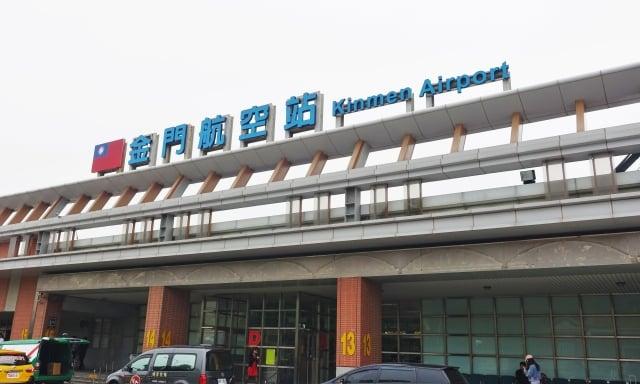 22日起,金門尚義機場將對入境旅客進行體溫監測。(記者簡源良/攝影)