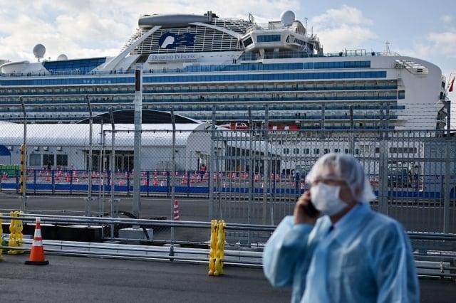 圖為鑽石公主號遊輪。(AFP via Getty Images)