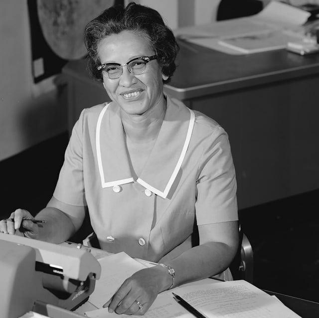 美國太空總署數學家凱瑟琳·強生(Katherine Johnson)1966年的照片。(NASA / AFP)