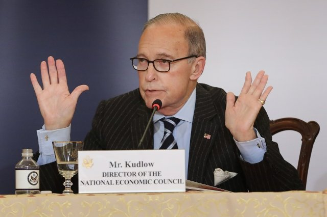 白宮經濟顧問柯德洛(Larry Kudlow)。(Chip Somodevilla/Getty Images)