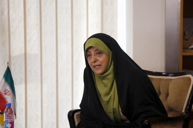 伊朗女副總統艾伯特卡。(ATTA KENARE/AFP via Getty Images)