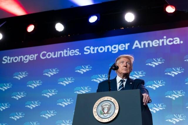 美國總統川普表示:「Fed正在降息的路上,但必須有更進一步寬鬆貨幣政策。」(白宮Flicker)