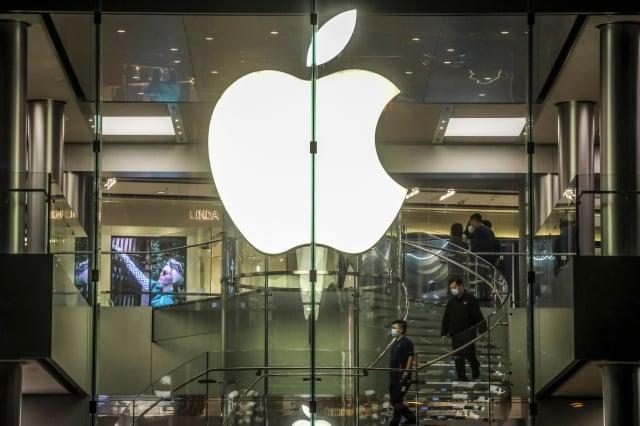 武漢肺炎疫情延燒之下,蘋果公司(Apple)供應鏈也受到影響。(VIVEK PRAKASH/AFP via Getty Images)