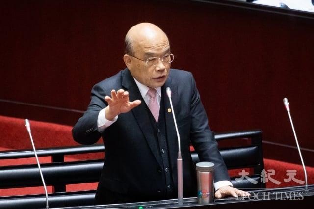 對於中國的影音串流平台「愛奇藝」在台灣無法可管,行政院長表示,請副院長召集相關部會修法,並請立法院大力支持,不能讓中共達到併吞台灣的目的。(記者陳柏州/攝影)
