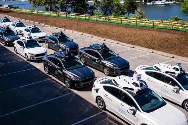 提供共享服務的Uber自駕車。(ANGELO MERENDINO/AFP/Getty Images)