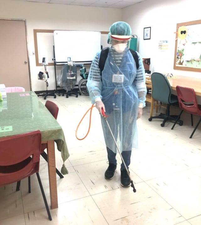 桃園療養院「防疫兵推 感染應變管制疏散」。