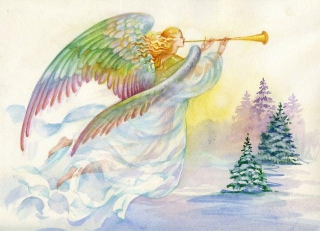 天使們搶走了浮士德的靈魂,並飛回天堂。示意圖。(shutterstock)