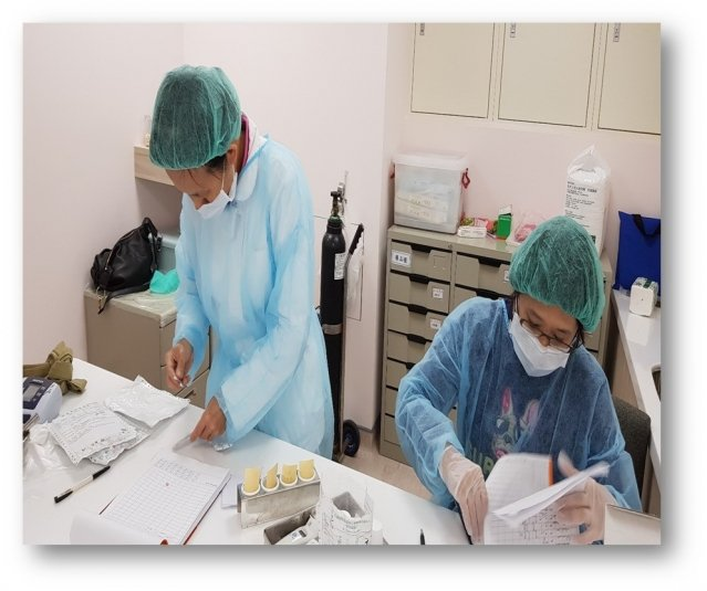 衛生福利部桃園療養院防疫不落人後。