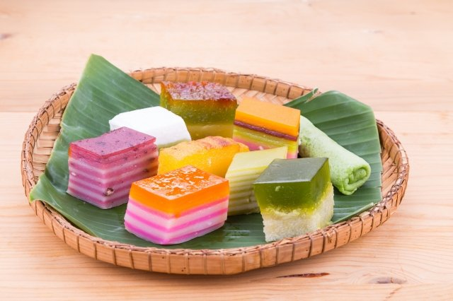 馬來西亞最受歡迎的各式甜點心,簡稱為kueh或kuih。(123RF)