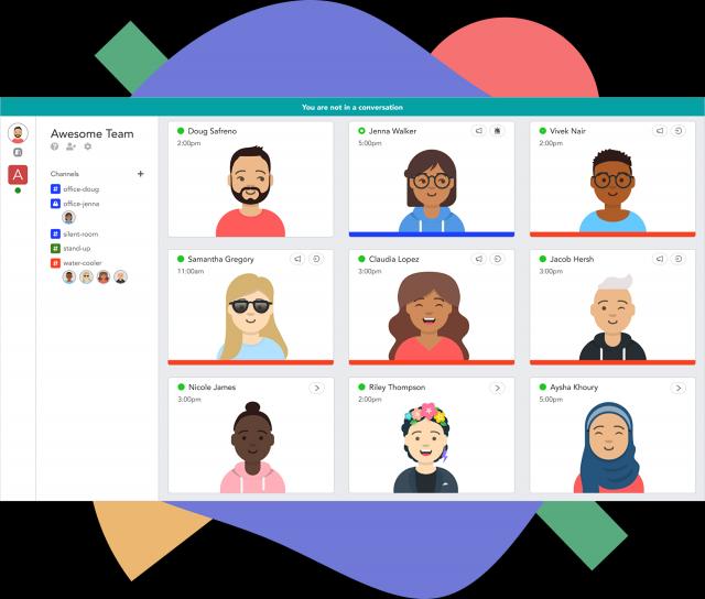 與在線視訊會議軟體不同,Pragli提供了可視化虛擬辦公室。(Pragli)
