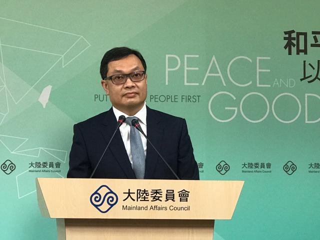 陸委會副主委陳明祺30日舉行例行記者會。(記者李怡欣/攝影)