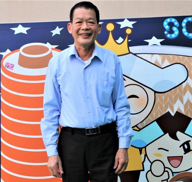 「襪子王」董事長 蕭明村 。(攝影/吳雁門)