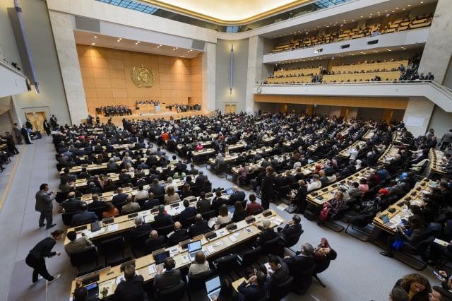 73屆世界衛生大會(WHA)將於18日進行視訊會議,臺灣仍未收到邀請函。圖為WHA資料照。(Getty Images)