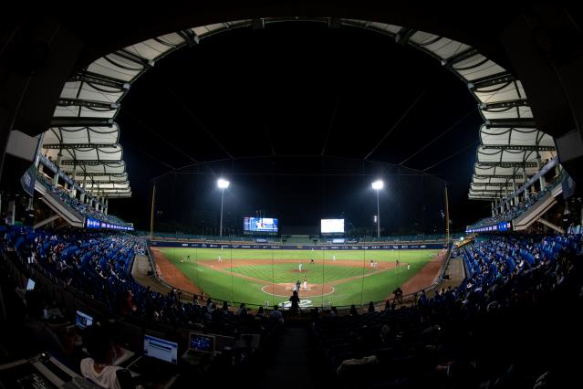 圖為新莊棒球場。(Getty Images)