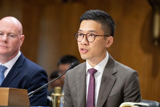 香港眾志常委羅冠聰引述美方消息人士指出,川普本週稍晚會宣布暫停香港「獨立關稅區」地位,促使北京當局改變香港政策方針。圖為羅冠聰資料照。(記者林樂予/攝影)