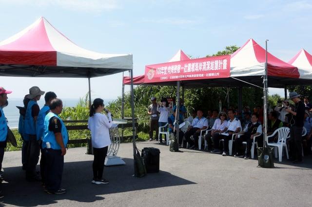 6月1日在壯圍的永鎮海灘舉行「向海致敬-壯圍鄉海岸清潔維護計畫」啟動儀式。