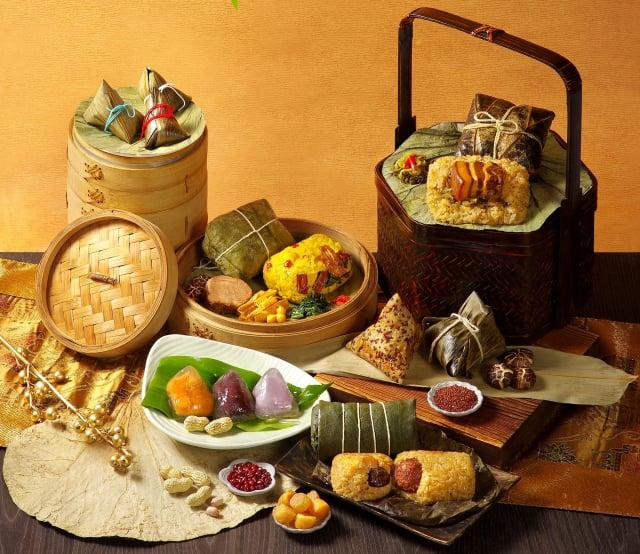 寧式東坡肉、紅燒獅子頭、老上海雪菜等外省菜風味融入粽子。(業者提供)