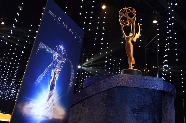 圖為第70屆電視艾美獎頒獎現場。(Kevork Djansezian/Getty Images)