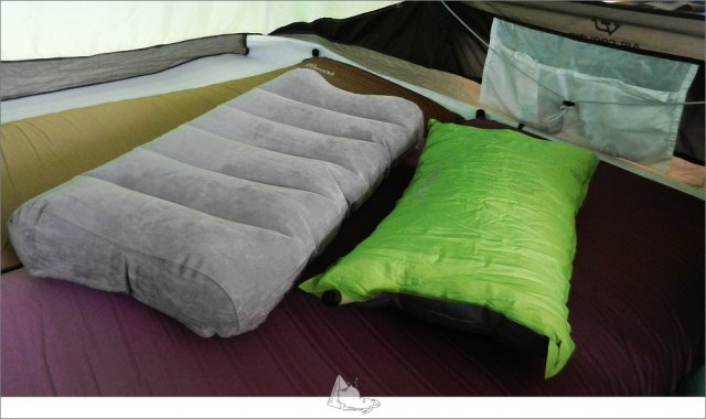 枕頭。(睡外面露營社提供)
