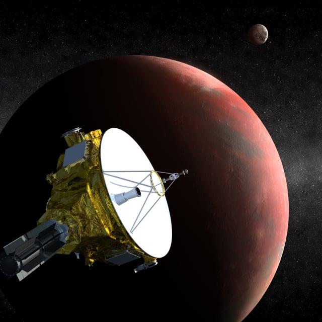 NASA的新視野號太空船拍攝了第一張冥王星近距離拍攝照片,成功獲取距地球超過約70億公里的「外星天空」照片。圖為冥王星附近的新視野號。(NASA)
