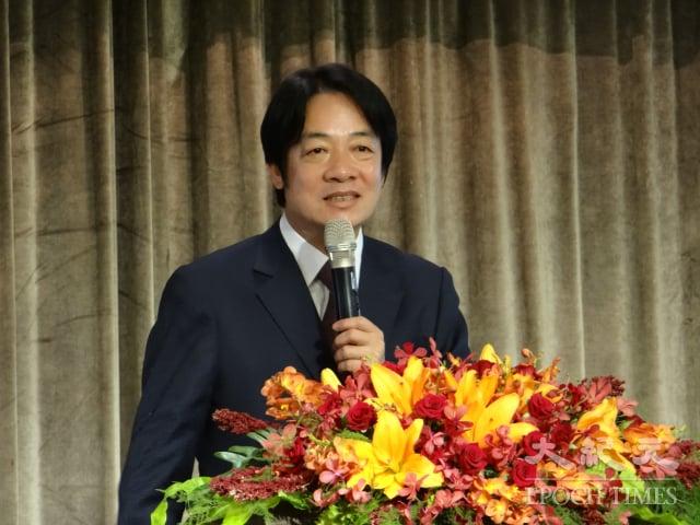 副總統賴清德表示,面對全球產業鏈重組,臺灣一定要在此時占有一席之地。(記者袁世鋼/攝影)