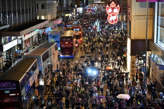 美國政府已對中共再祭出重拳,開始撤銷香港特殊地位。(ANTHONY WALLACE/AFP via Getty Images)