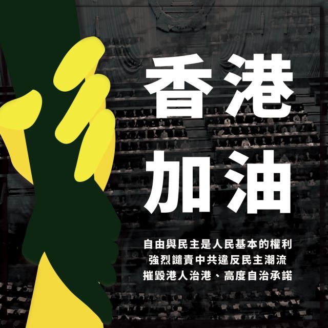 副總統賴清德30日在臉書貼文聲援香港。(翻攝賴清德臉書)