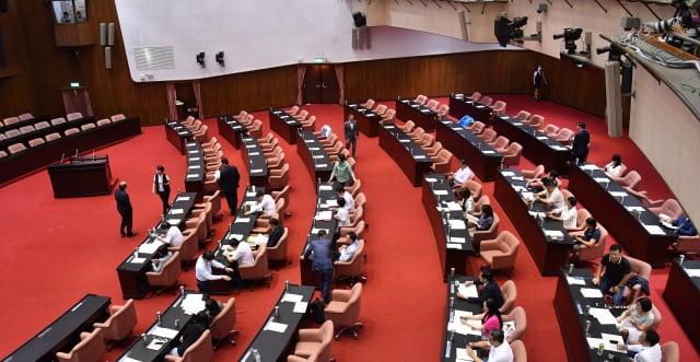 立法院30日舉行臨時會,因國民黨團總召林為洲發言後隨即離去,朝野無法形成共識。(中央社)