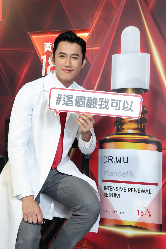 金鐘視帝吳慷仁利用優質酸來協助肌膚代謝。(公關提供)