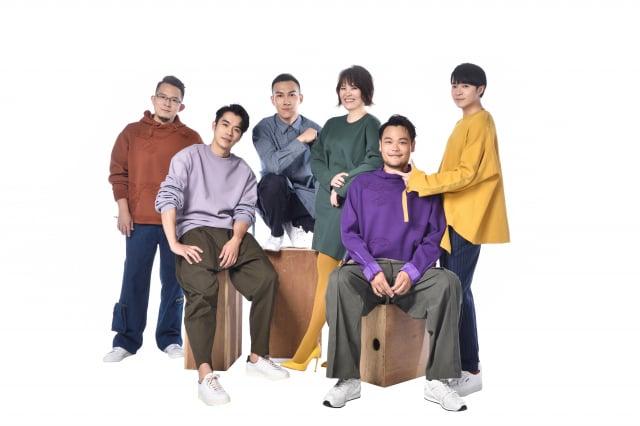 蘇打綠六成員重新拆解組合,化身「魚丁糸」團體宣傳照。(大誌雜誌提供)