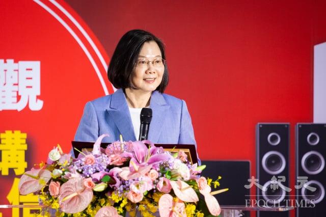 總統蔡英文3日出席「第30屆臺北電器空調3C影音大展」開幕記者會。(記者陳柏州/攝影)