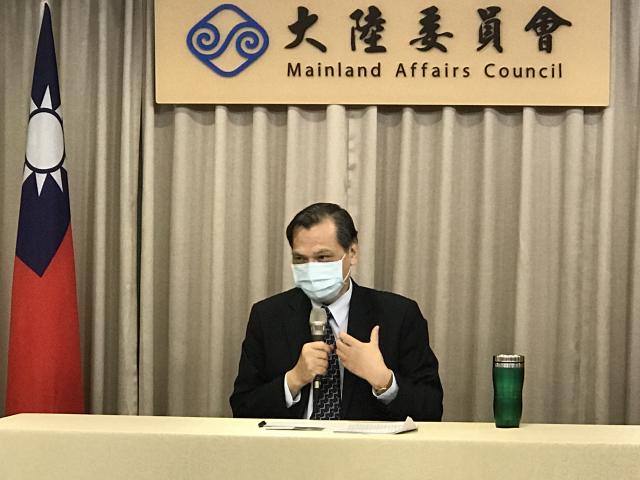 陳明通16日說,《港版國安法》摧毀香港,如港方損及我駐處權益,我方將祭出反制,港方若要求我提供資料,將斷然拒絕。(記者李怡欣/攝影)